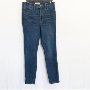 """Madewell 10"""" High Rise Skinny Jeans Size 28"""